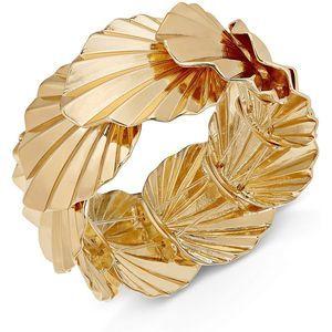 Thalia Sodi Gold Palm Leaf Stretch Bracelet Gold